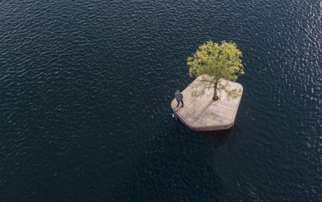 Arte e Natura #2: Design. Una piccola Isola Artificiale galleggia al centro del porto di Copenhagen