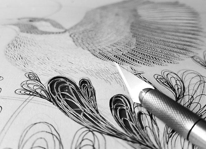 PaperArt #3: ispirazioni naturali ritagliate a mano