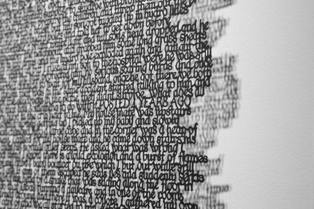 PaperArt #2: scrittura traforata