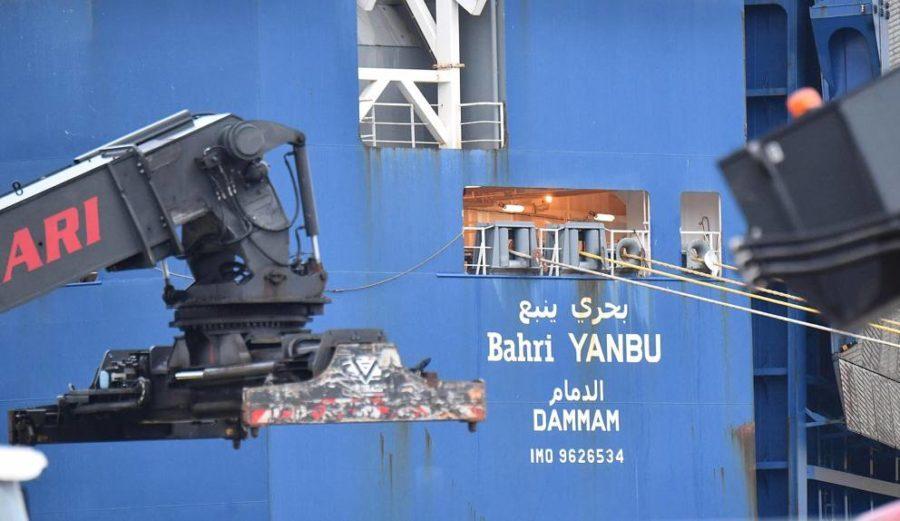 Nave Bahri Yanbu, i portuali impediscono il carico di materiale bellico