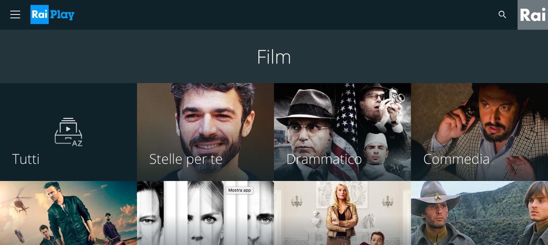 Cinque film da vedere (gratis) su RaiPlay