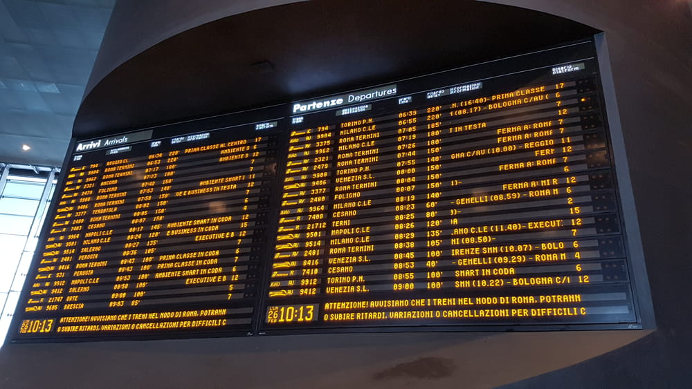 In Italia è praticamente impossibile combattere l'inquinamento con i treni