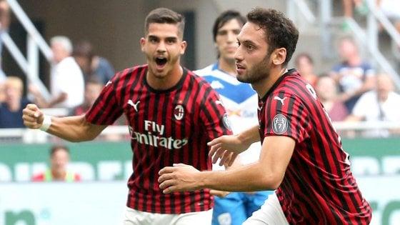 Milan – Brescia 1-0, primi tre punti per i rossoneri