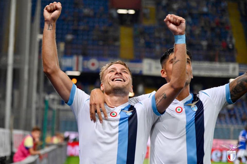 La Lazio passeggia a Marassi, tris alla Samp