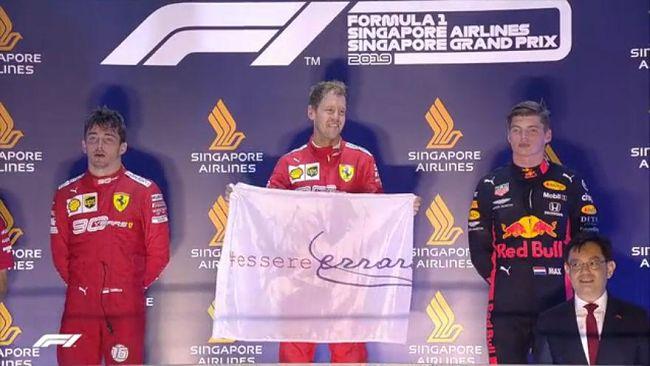 GP Singapore: doppietta Ferrari, Vettel torna grande davanti a Leclerc
