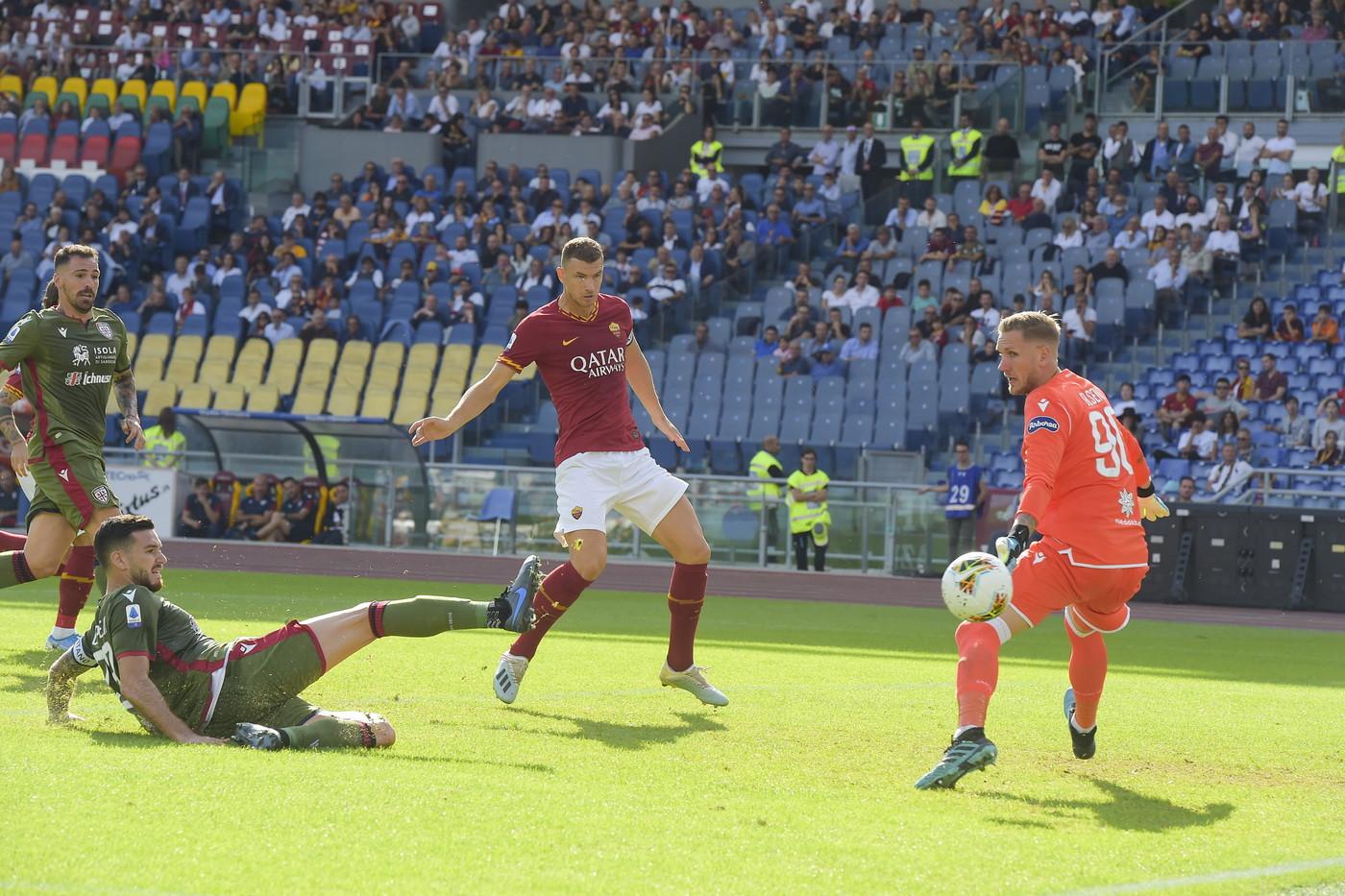 Roma-Cagliari finisce 1-1 all'Olimpico