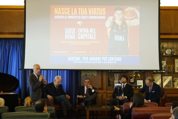 Presentato al cc Aniene il progetto di Equity Crowdfunding della Virtus Roma