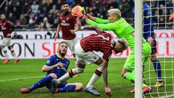 Milan frenato dal Verona, a San Siro è 1-1