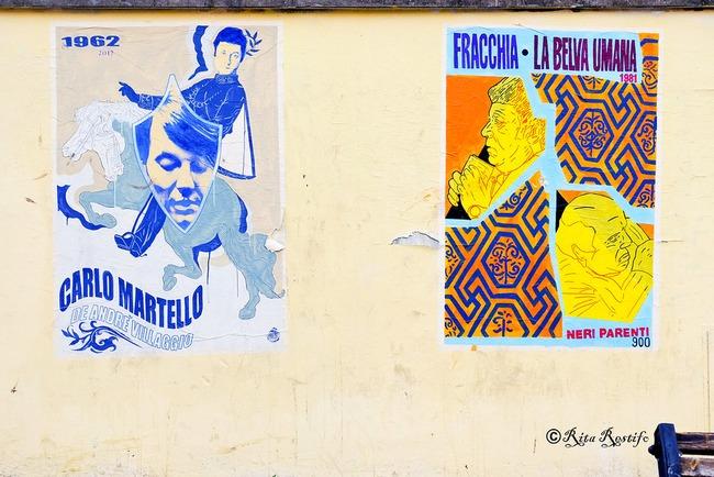 A Roma i manifesti omaggiano Carmelo Bene e Franco Citti