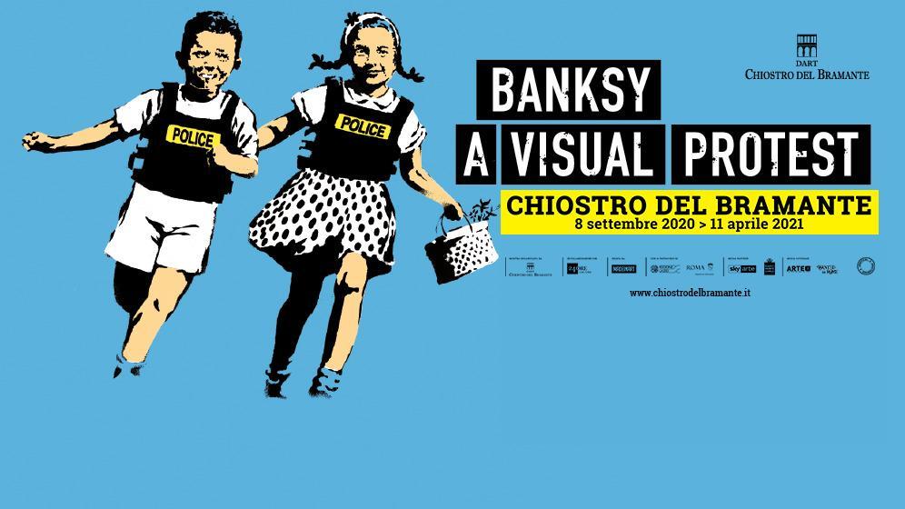 A visual protest: Banksy in mostra a Roma tra genio e contraddizione