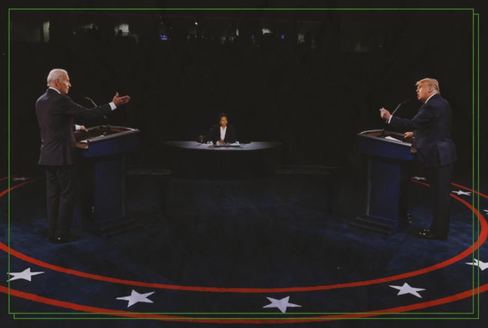 Trump-Biden: ultimo dibattito e microfoni spenti a turno