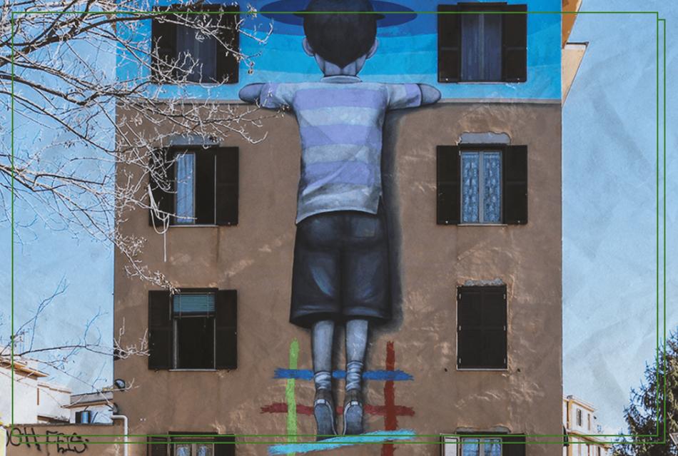 La coloratissima  street art che incendia le strade della capitale
