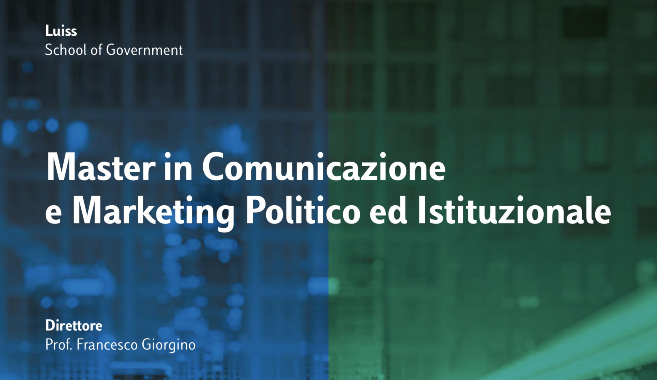 Master in comunicazione e marketing della Luiss in collaborazione con Ferpi