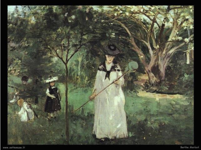 Moriva 180 anni fa Berthe Morisot, l'unica pittrice femmina del gruppo degli Impressionisti.