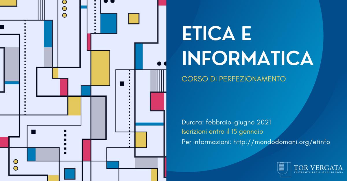 Etica e Informatica: l'innovativo corso di perfezionamento di Roma Tor Vergata